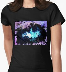 Dragon Blue Flames Women's Fitted T-Shirt