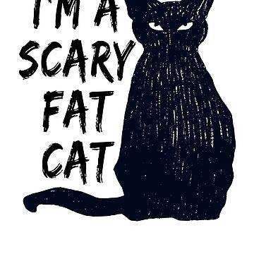 Scary Halloween Black Cat Design Art by MerchLovers