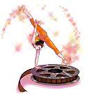 «Bailarina en el rollo (de cine)» de PlatArtistic