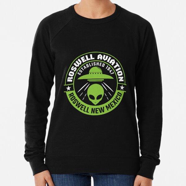Roswell New Mexico Alien UFO Lightweight Sweatshirt