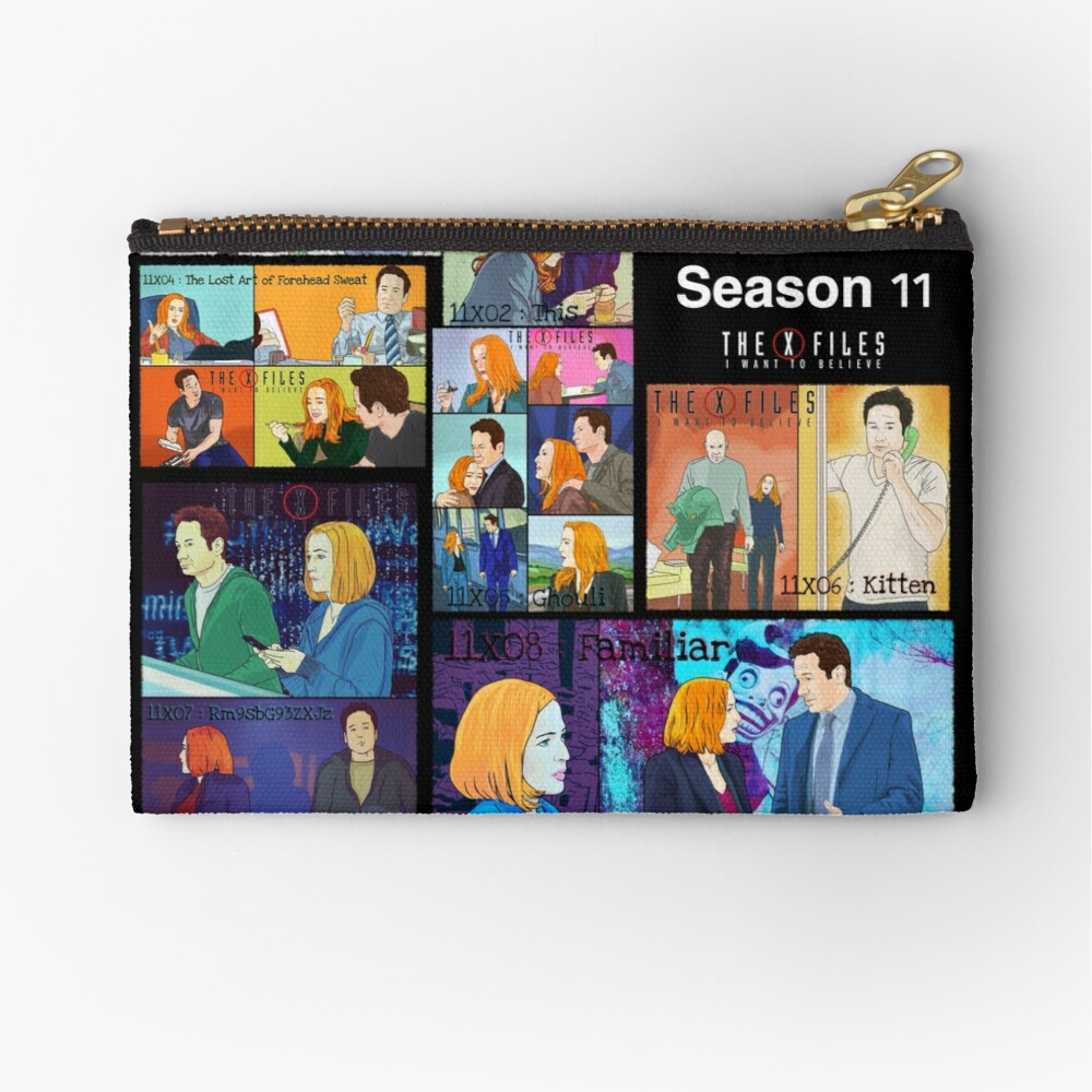 The X files season 11 all the episodes ( more 70 designs XFiles in my shop) Zipper Pouch
