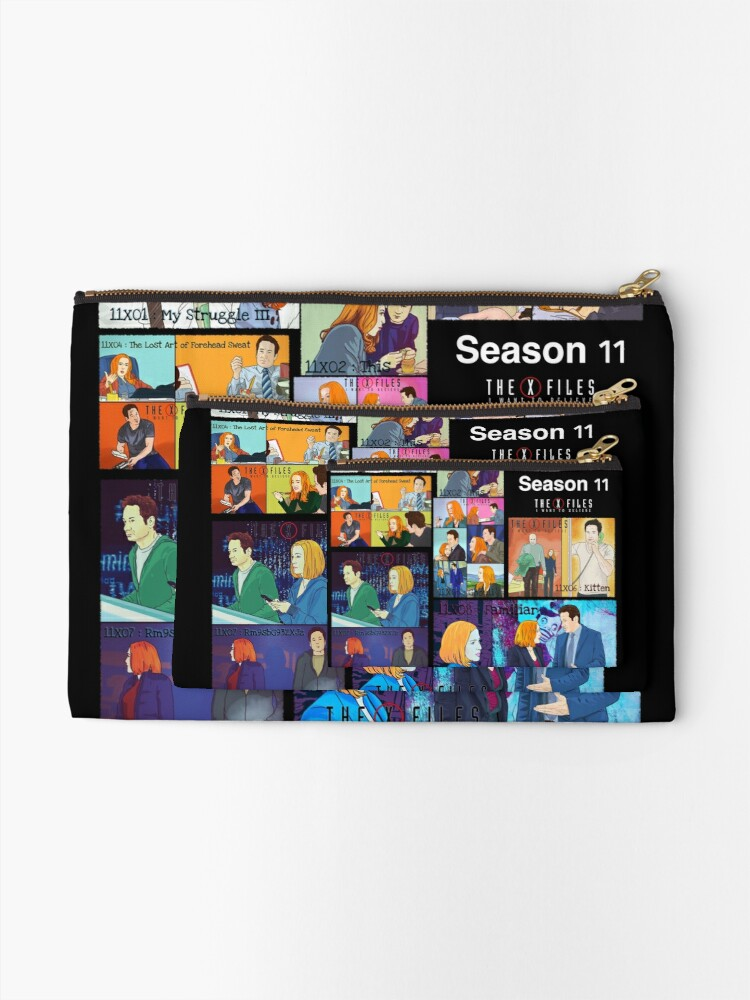 Alternate view of The X files season 11 all the episodes ( more 70 designs XFiles in my shop) Zipper Pouch