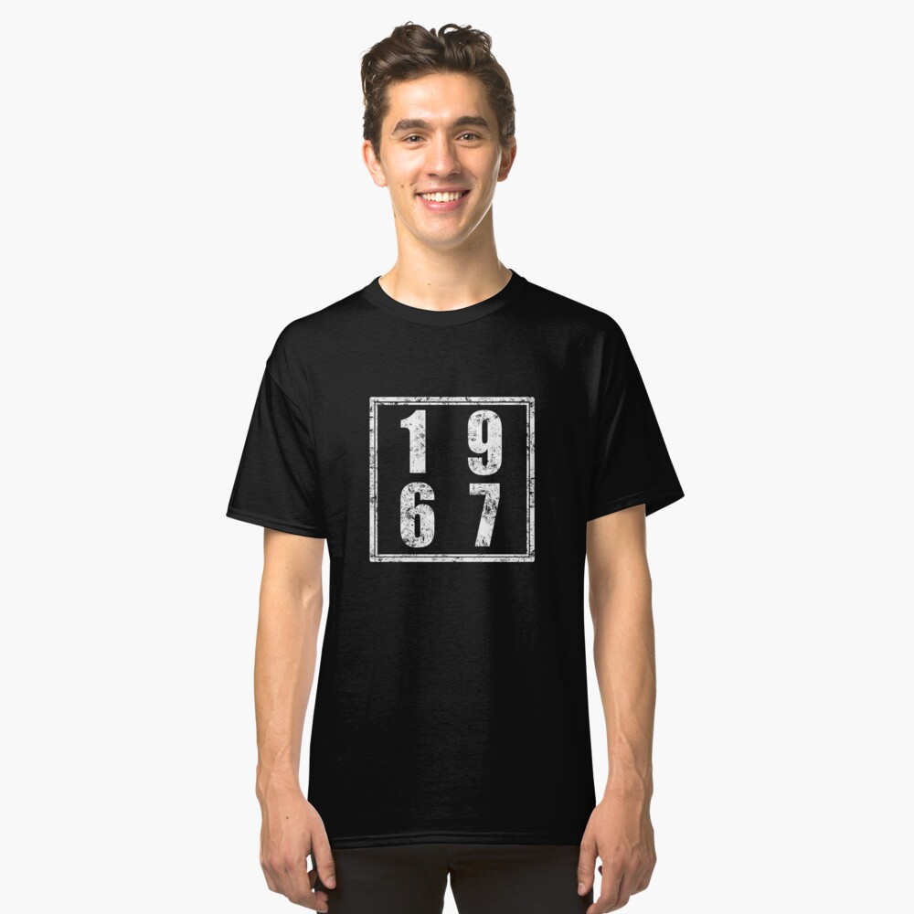 Vintage Retro 1967 Birthday Classic T-Shirt Front