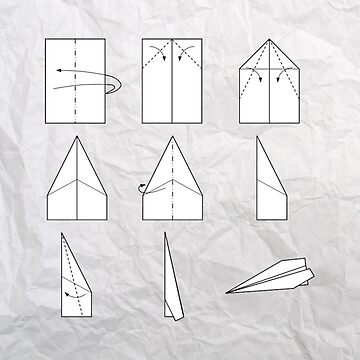Paper airplane instructions by petrosdeme