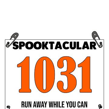 Simple Runner Halloween Costume Race Bib Look Pins Easy by riverportgifts