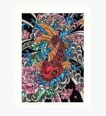 Japanese koi fish  Art Print