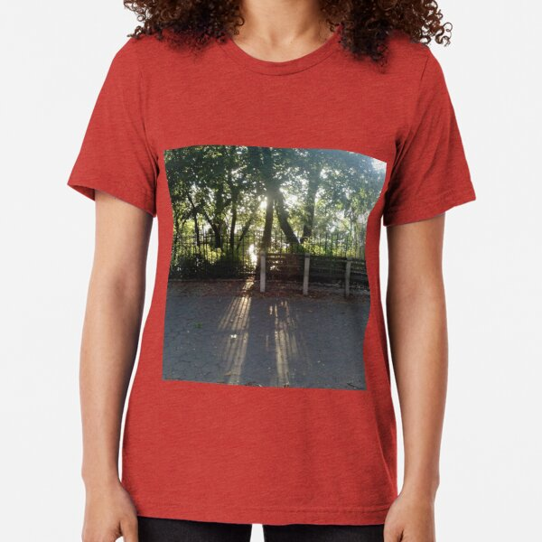 #Sunlight #road #tree #nature #park #trees #forest #green #landscape #path #summer #woods #way #leaves #alley #lane #grass #autumn #foliage #spring #leaf #wood #outdoor #walk #outdoors #countryside Tri-blend T-Shirt