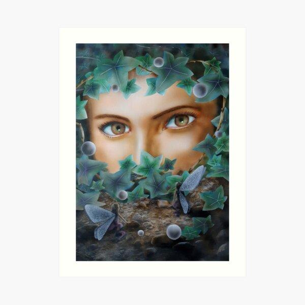 Looking Through Ivy Art Print