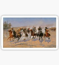 A Dash for the Timber - Frederic Remington  Sticker