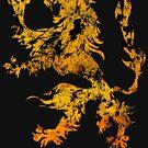 Lion Heraldry Griffin - Heraldic Grungy by Denis Marsili