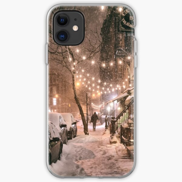 East Village in the Snow - New York City iPhone Soft Case