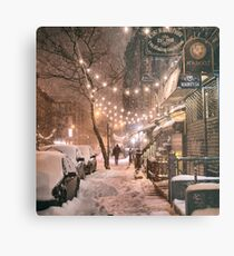 East Village in the Snow - New York City Metal Print