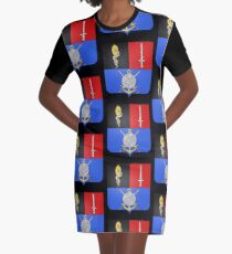 French France Coat of Arms 16865 Blason Hyacinthe Yves Philippe Potentien de Bougainville Graphic T-Shirt Dress