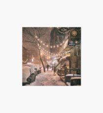 Lámina de exposición East Village in the Snow - New York City