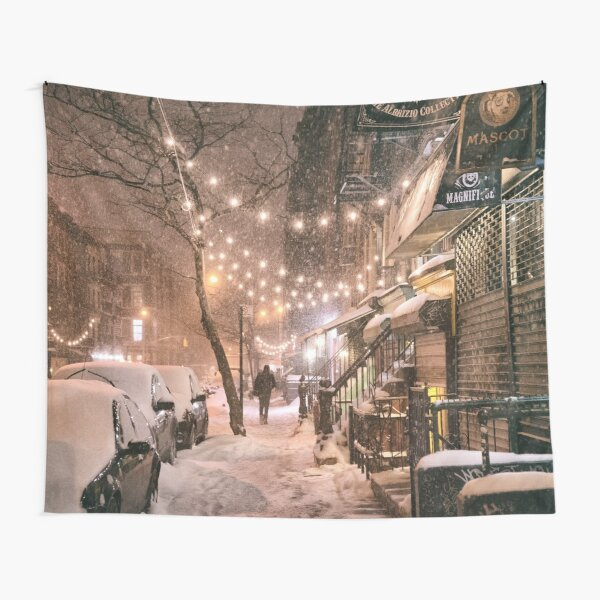 East Village in the Snow - New York City Tapestry