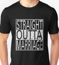 Straight Outta Marriage - Marriage Slim Fit T-Shirt