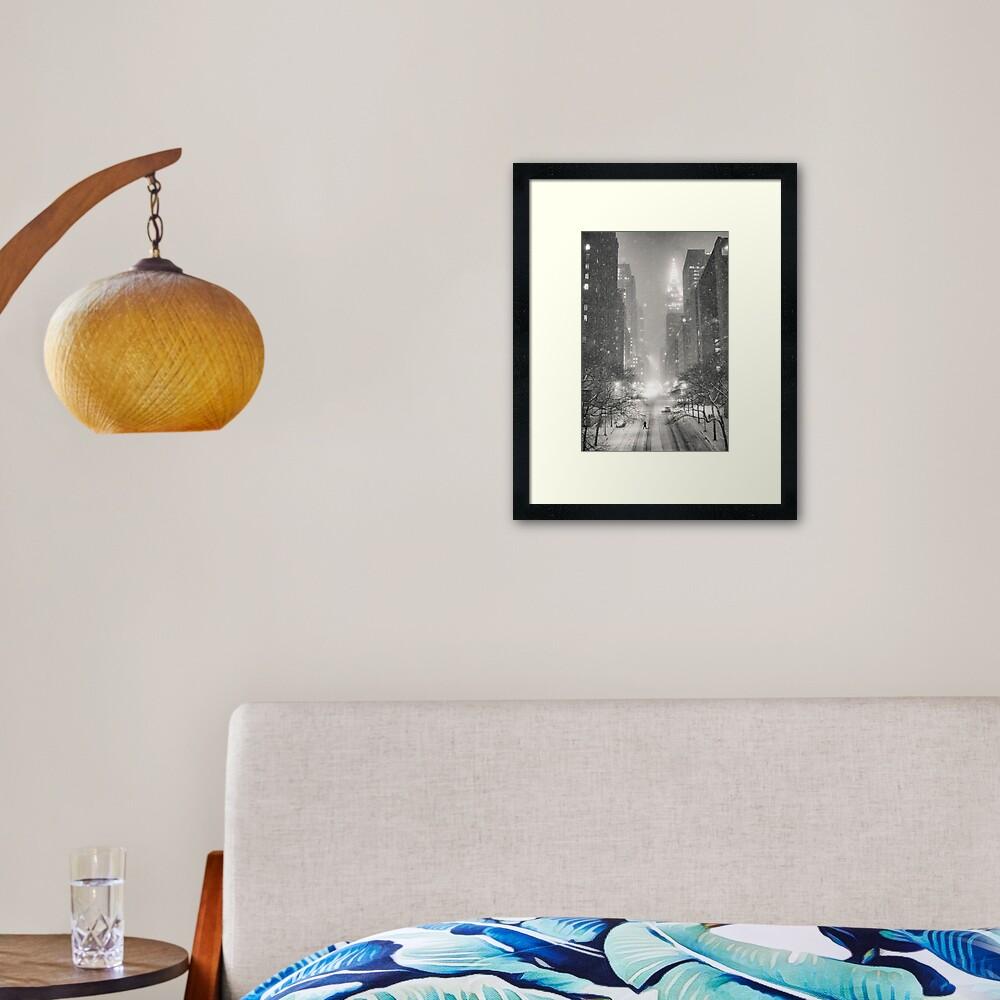 A Winter's Tale - New York City Framed Art Print