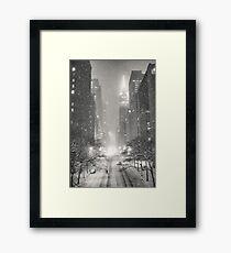 A Winter's Tale - New York City Framed Print