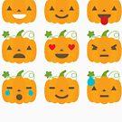 Pumpkin Emoji - Halloween by TrendJunky