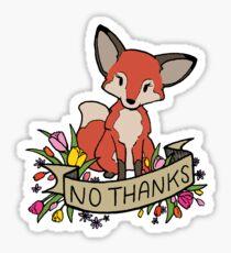 no thanks Sticker
