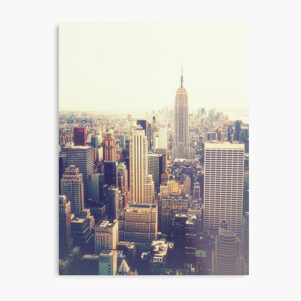 Nueva York Lienzo metálico