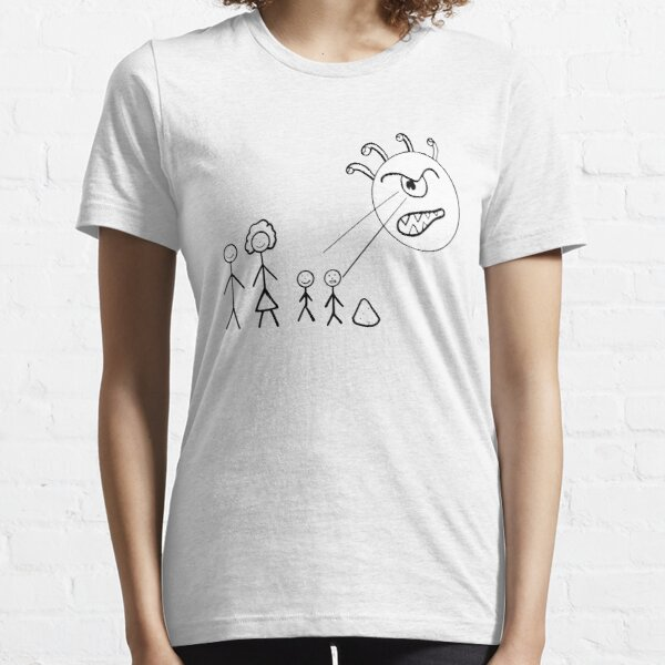 Death Ray Stick Figure Family Essential T-Shirt