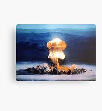 die Atombombe Metallbild