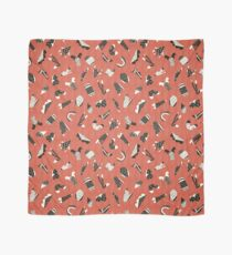 Red and Black Abstract Cut Out Shapes Scarf