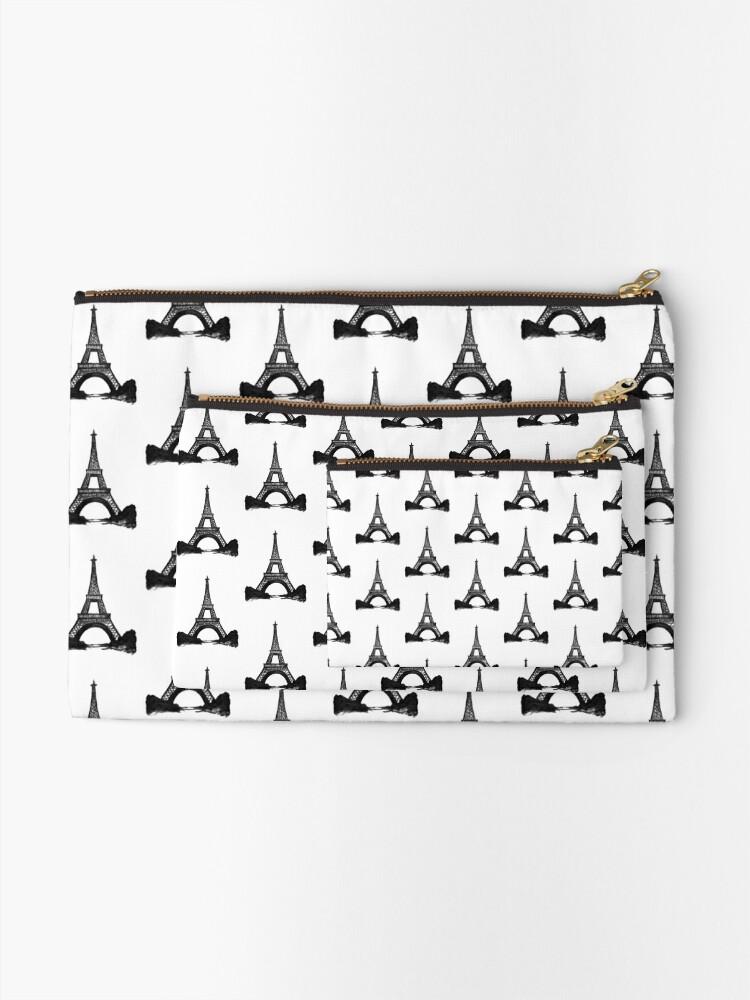 Alternate view of Eiffel Tower in Black Zipper Pouch