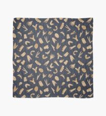 Gray and Yellow Abstract Cut Out Shapes Scarf