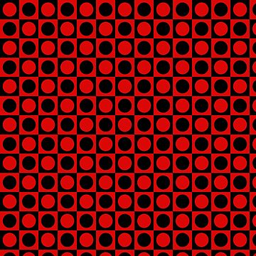 Red & Black Polka Dot Squares by iheartclothes