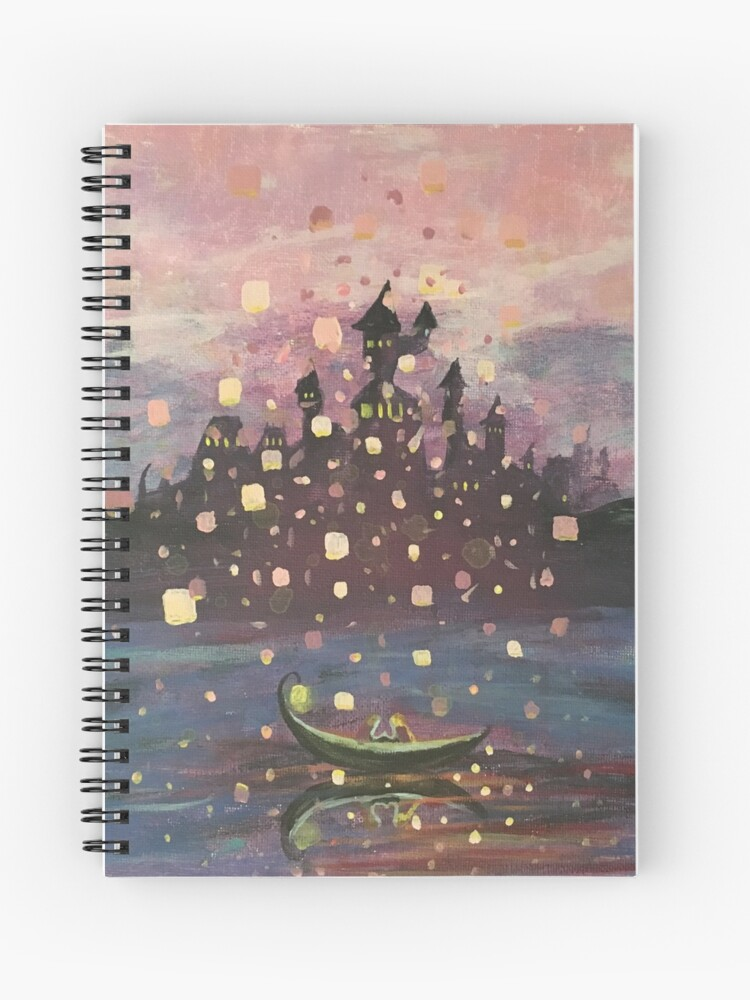 Tangled Lantern Painting Spiral Notebook By Abbyja10 Redbubble