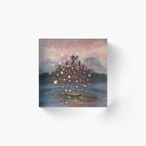 Tangled Lantern Painting Acrylblock