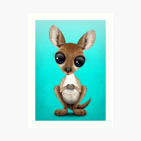 Cute Baby Kangaroo Art Print