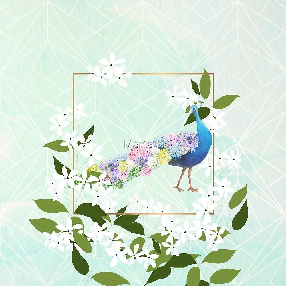 Peacock Hydrangea by Marta Li