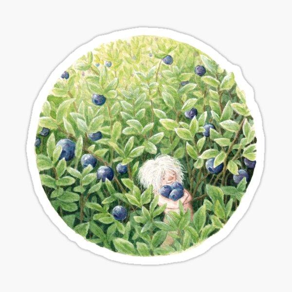 Gathering Blueberries Sticker