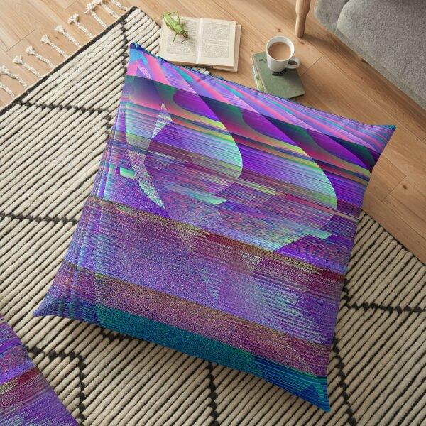 Targa Series: Purple Glitch Floor Pillow