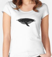Aquatic Animals - Black Fiordland Penguin / Tawaki Women's Fitted Scoop T-Shirt
