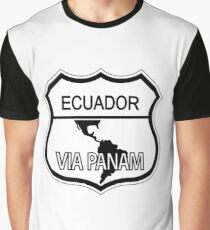 Ecuador Via Panam Pan American Highway Shield Graphic T-Shirt