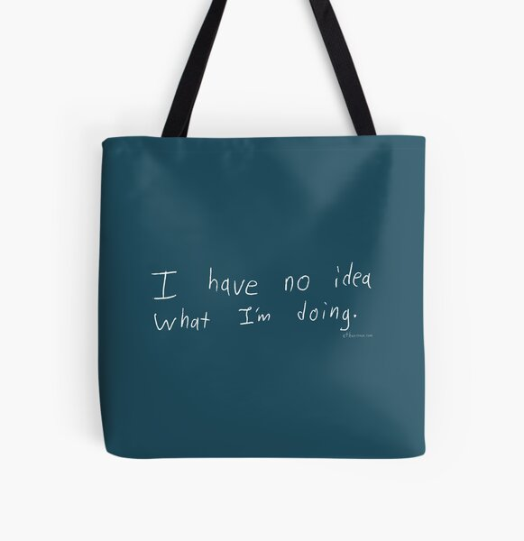 What Am I Doing - White All Over Print Tote Bag