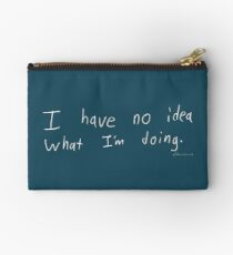 What Am I Doing - White Studio Pouch