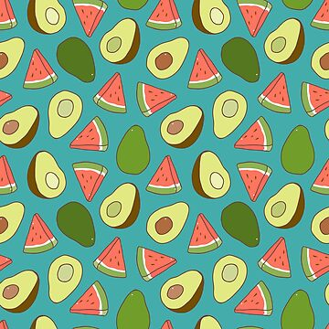 Avocado and watermelons by Anviczo