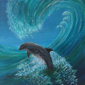 Catching a Wave by ArtbyDedeConrad