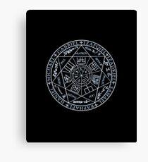 Lienzo El símbolo del sello sigil de los siete Ángeles