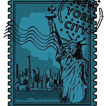 New York City Stamp by pda1986