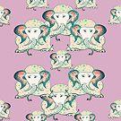 pink elephant print by hdettman