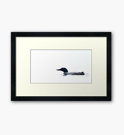 White water - Common Loon Framed Print