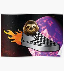 Sloth In a Vans Rocketship to Uranus Poster