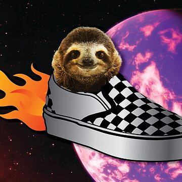 Sloth In a Vans Rocketship to Uranus by BerksGraphics