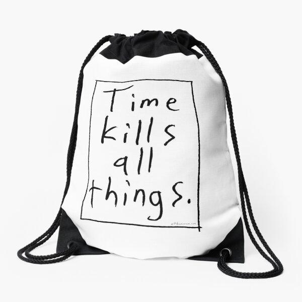 Time Kills - Box Drawstring Bag